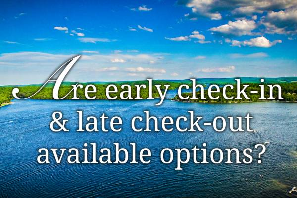 Are early check-in and late check-out available options?