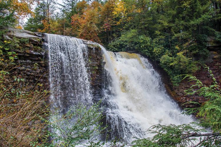 Waterfall at Swallow Falls