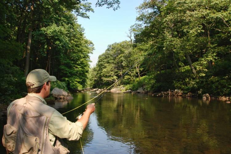 Man Fishing in Garrett County, MD