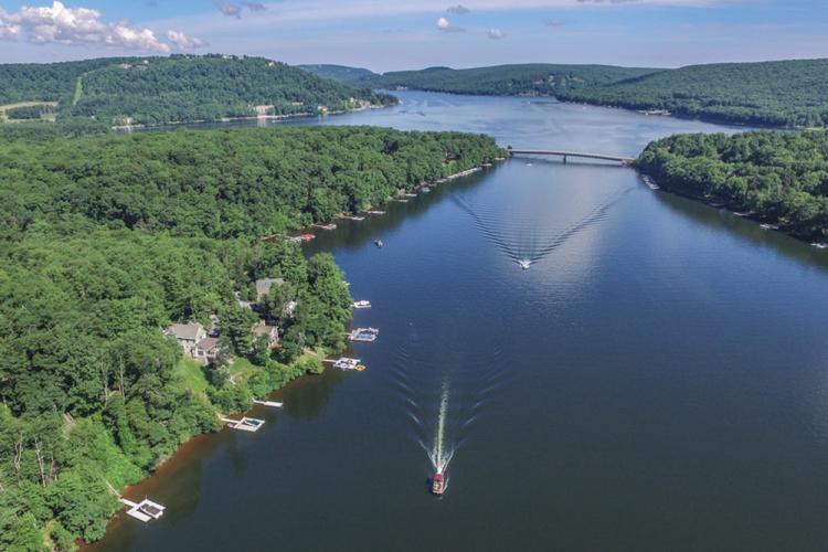 Aerial Summer View of  Deep Creek Lake