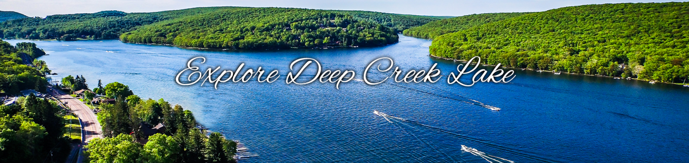 Summer Scenic View of Deep Creek Lake