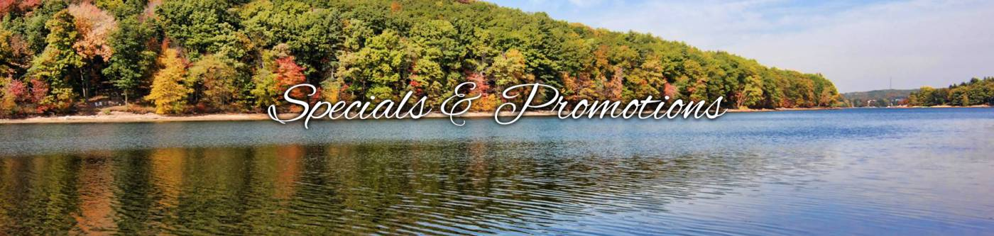 Specials and Promotions | Will O' The Wisp Deep Creek Lake