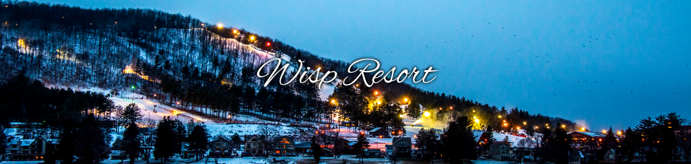 Night View of Wisp Resort Ski Slopes